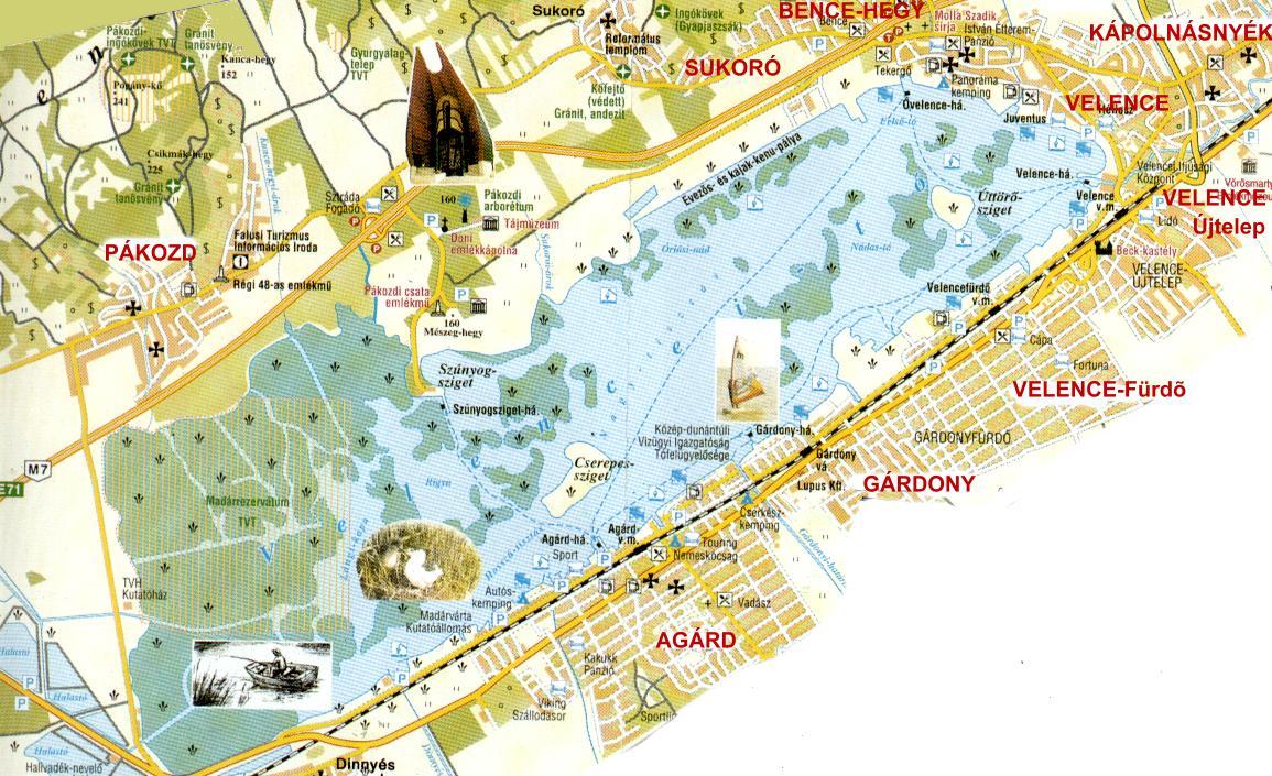 velencei tó térkép Velence térképe  html velencei tó térkép